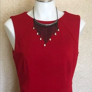 Talbot Red Sheath Dress